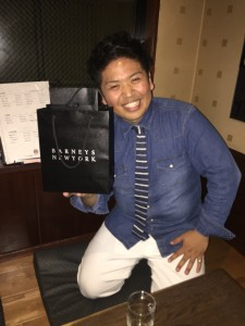 平井先生の合格祝い!
