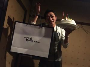 古賀先生の誕生祝い!